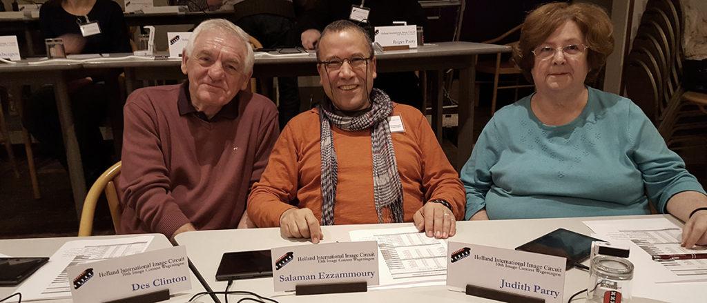 Judging - Holland International Image Circuit 2016, Des Clinton Salman Ezzammoury en Judith Parry