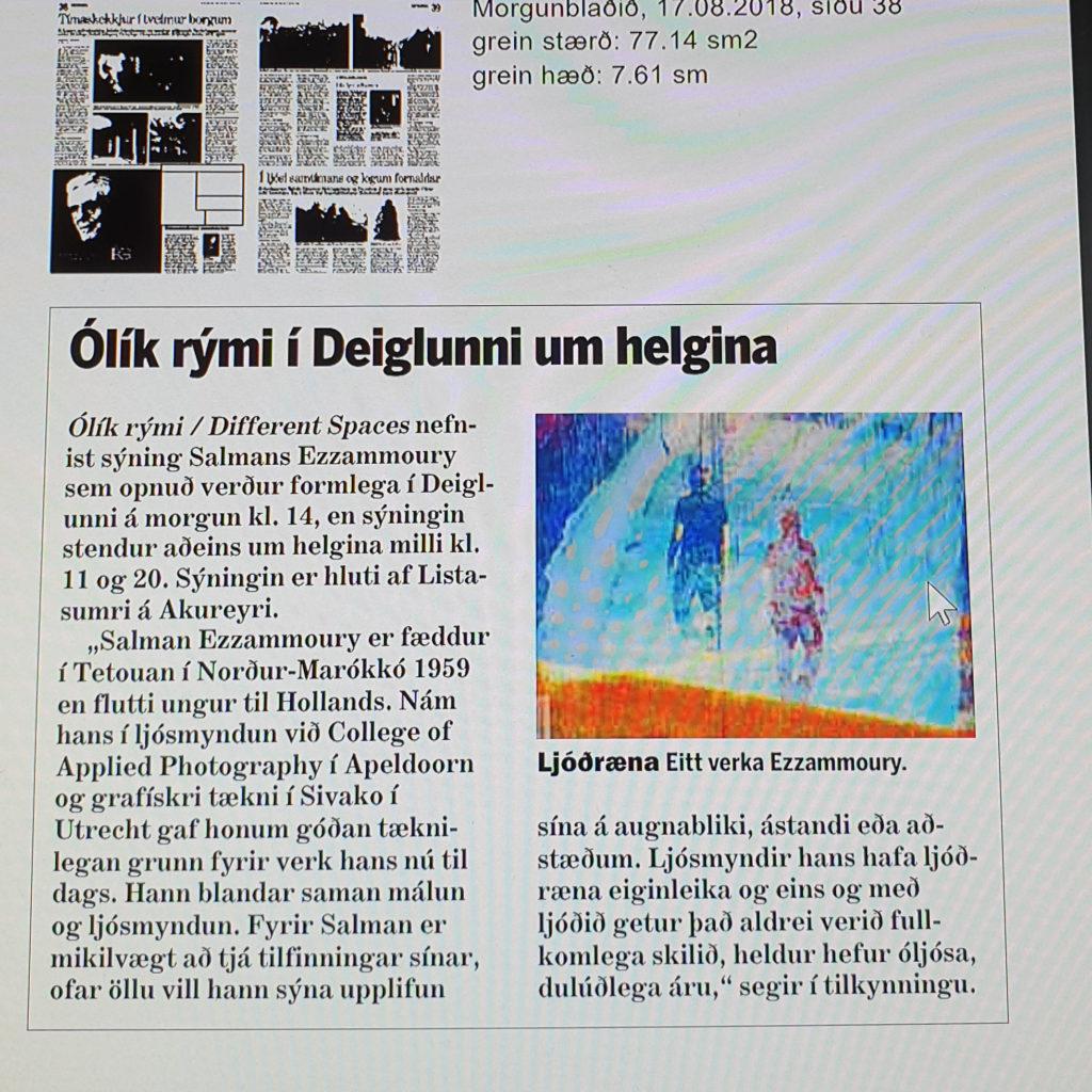 2018 Artikel in IJslandse Krant