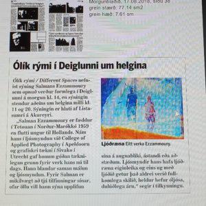 Artikel in IJslandse Krant