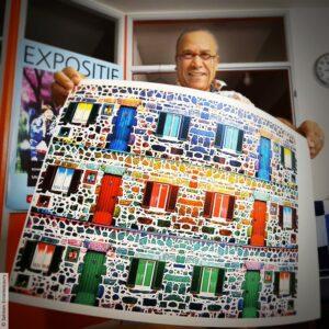 Salman Ezzammoury in zijn Atelier in Ede