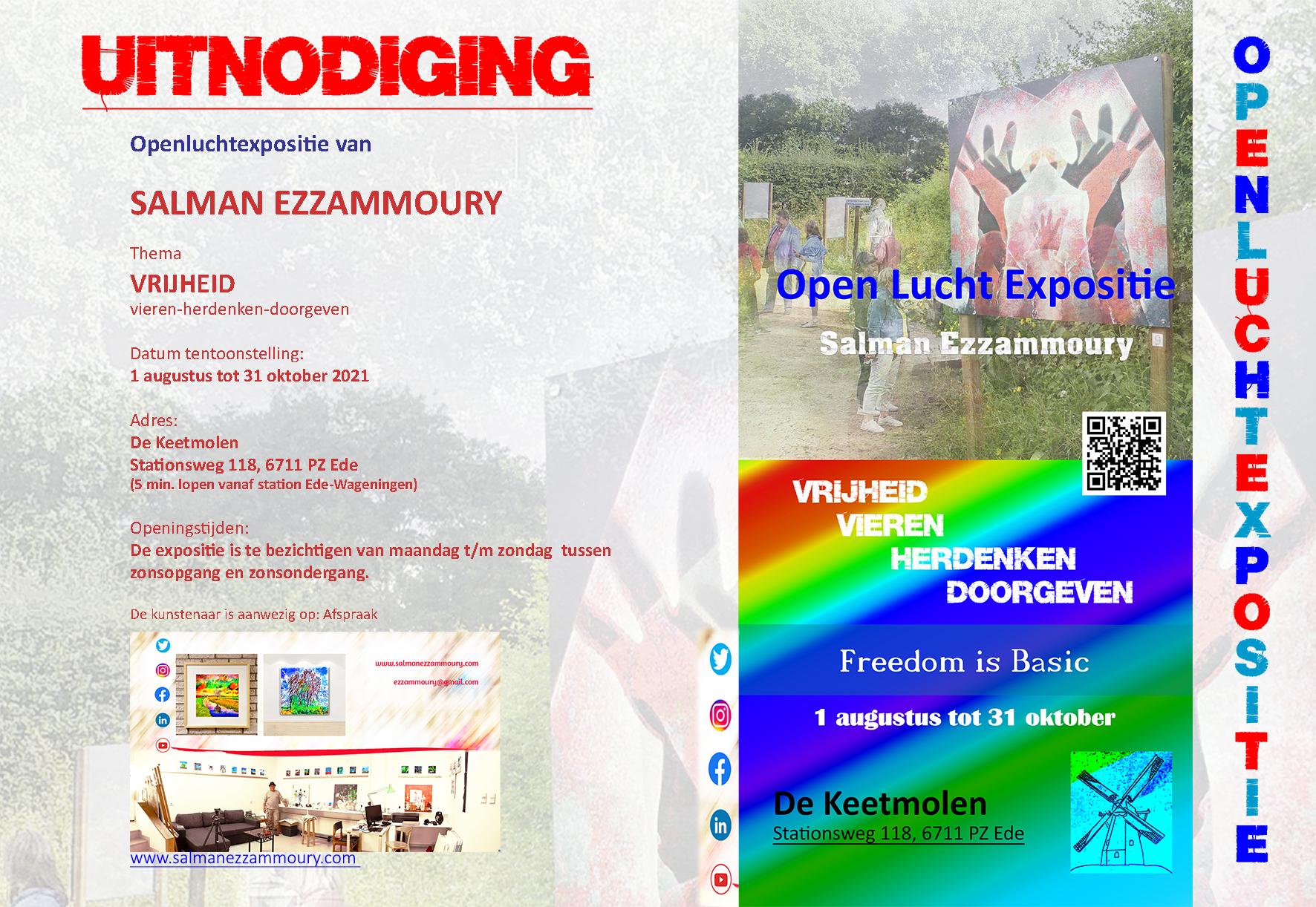 Uitnodiging expo vrijheid
